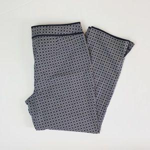 Talbots Blue Printed Ankle Dress Pants
